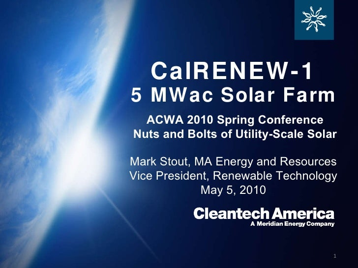 Cleantech America ACWA Presentation