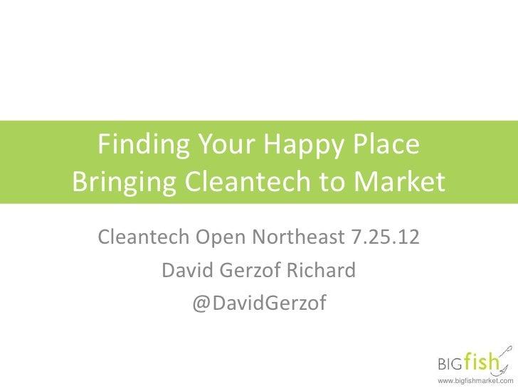 Cleantech open: Cleaner, Better, Cheaper