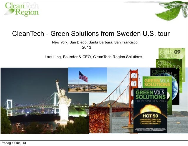 CleanTech Region green solutions from sweden u.s tour 2013