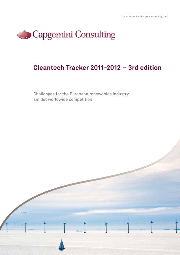 Cleantech Tracker 2011 2012