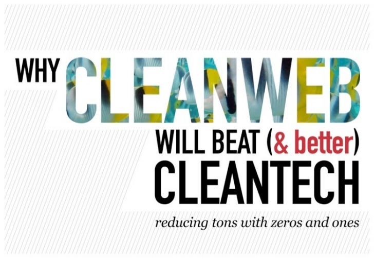 Why Cleanweb Will Beat Cleantech