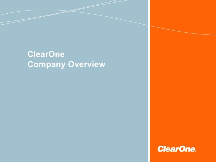 Clear One Company Overview(한글)