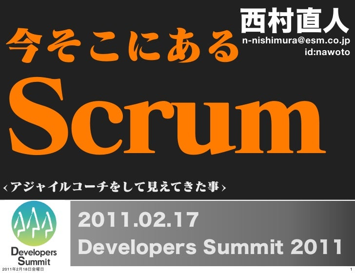 Clear and Present Scrum on Devlopers Summit 2011