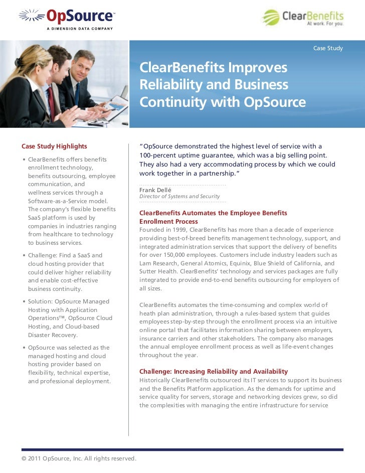 Case Study                                             ClearBenefits Improves                                             R...