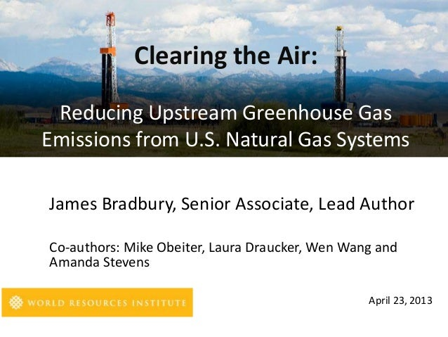 """Webinar on """"Clearing the Air: Reducing GHG Emissions from U.S. Natural Gas Systems"""""""