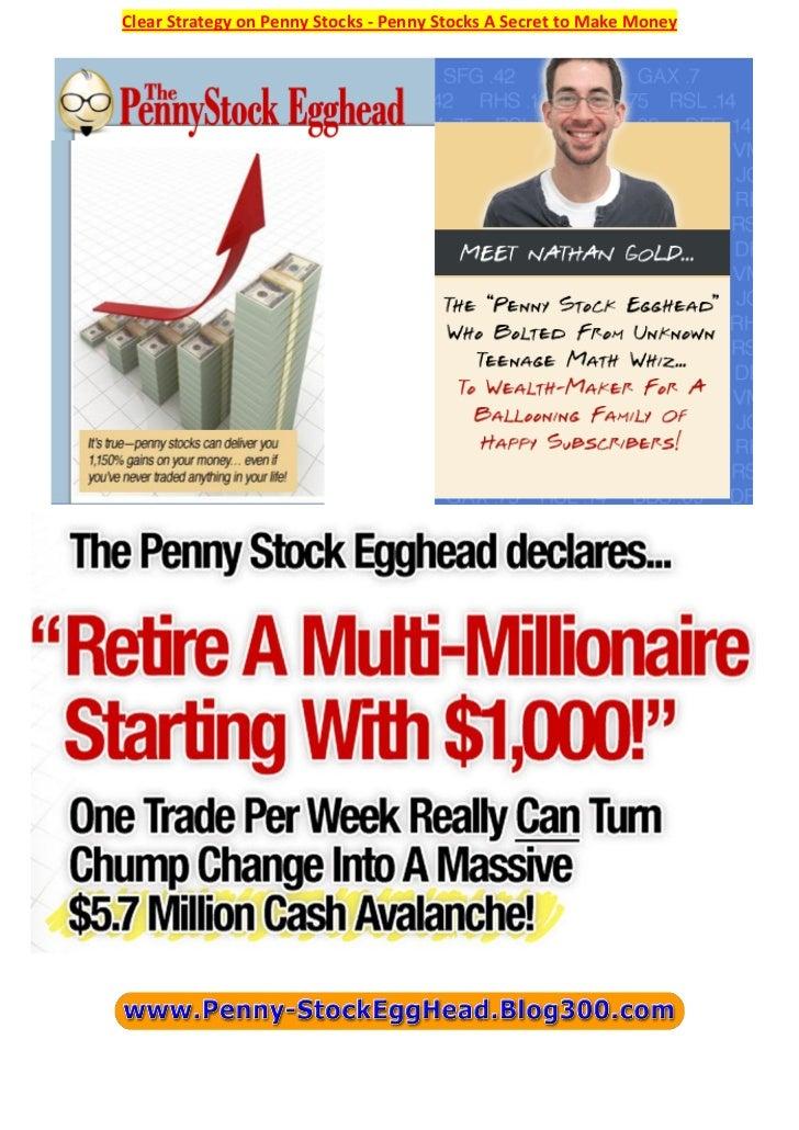 Clear Strategy on Penny Stocks - Penny Stocks A Secret to Make Money