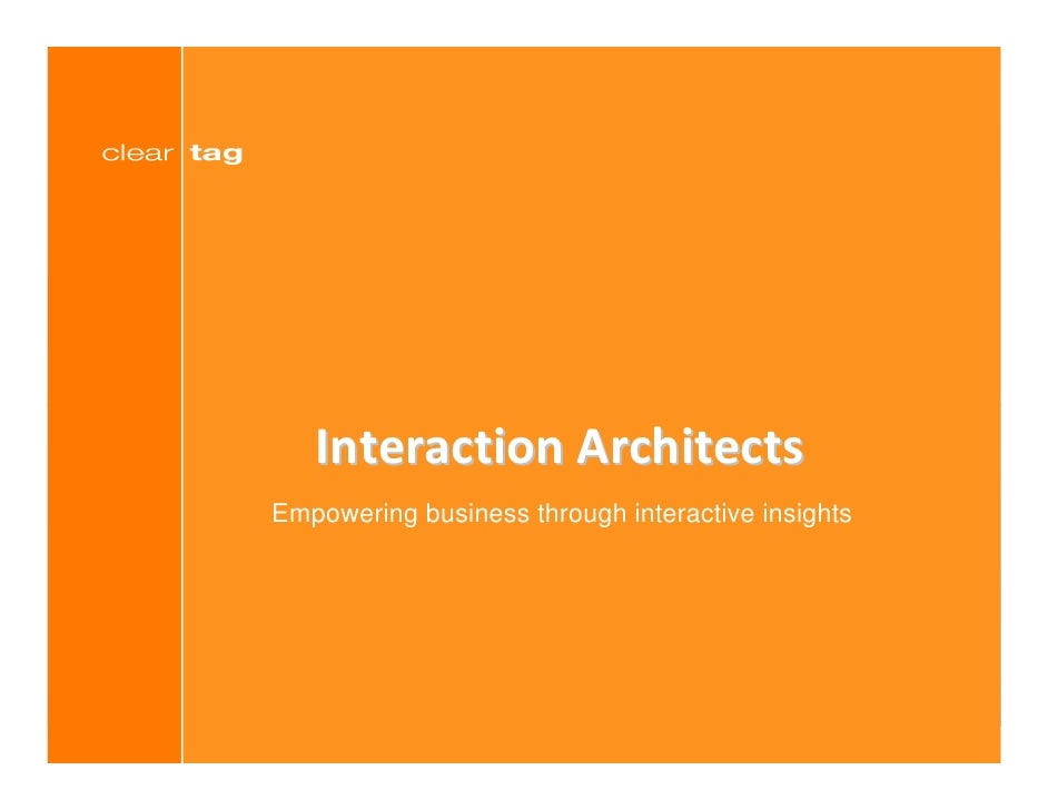 Interaction Architects Empowering business through interactive insights                                                   ...