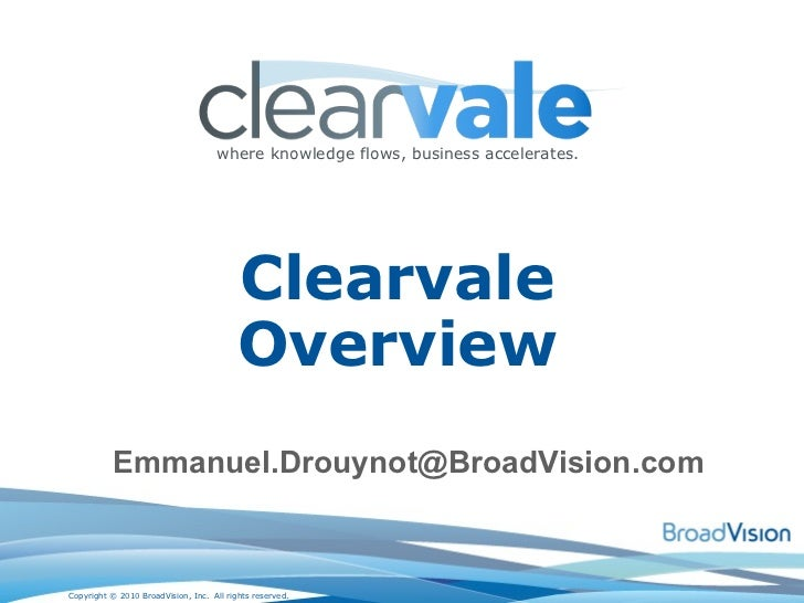 Clearvale Overview [email_address]