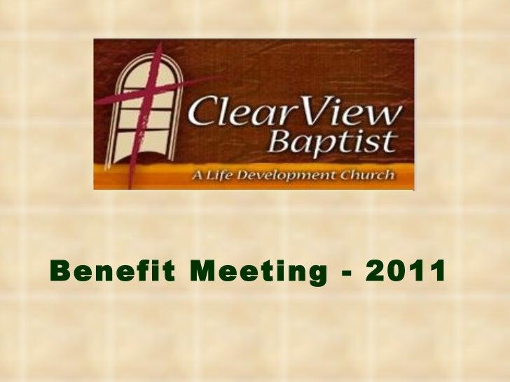 Benefit Meeting - 2011
