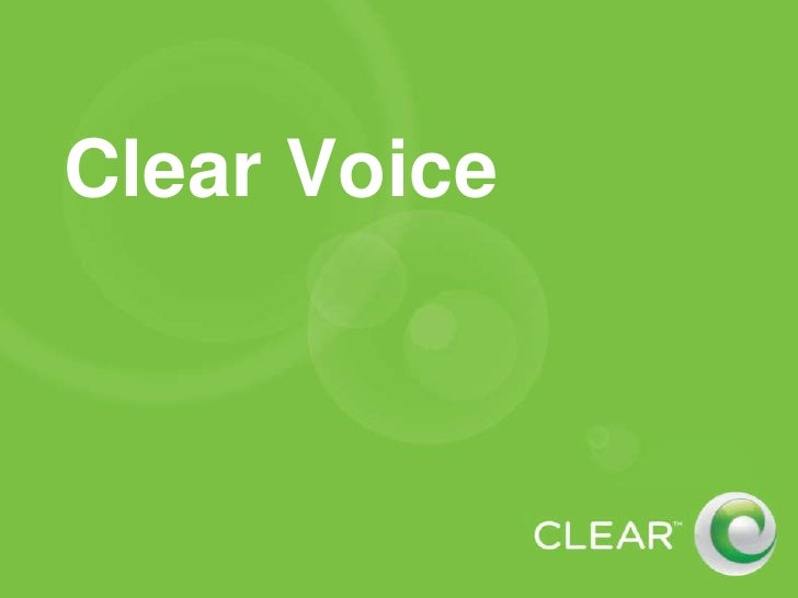 Clear Voice<br />