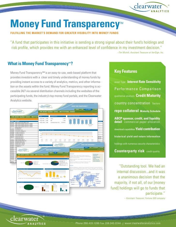 Clearwater Analytics - Money Fund Transparency
