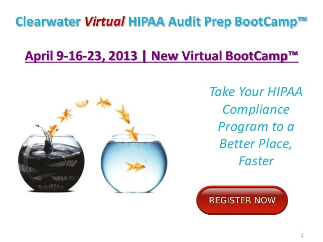 Clearwater virtual hipaa audit prep boot camp