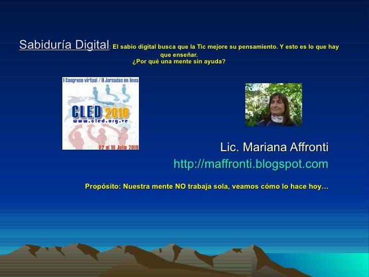 Cled 2010 Sabiduría Digital Por Mariana Affronti