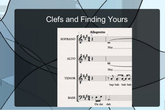 Clefs and finding your part