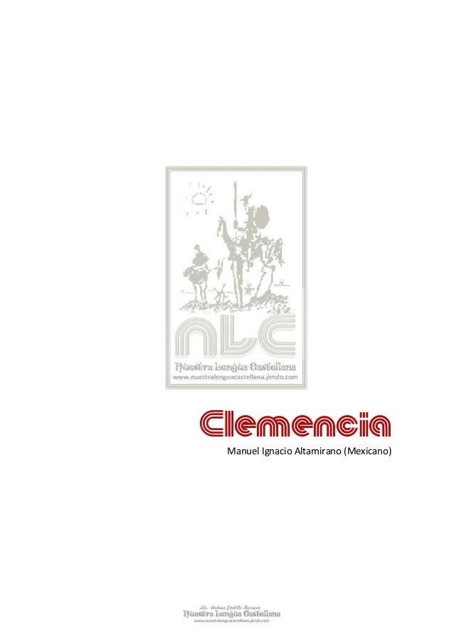 Clemencia  ignacio manuel altamirano