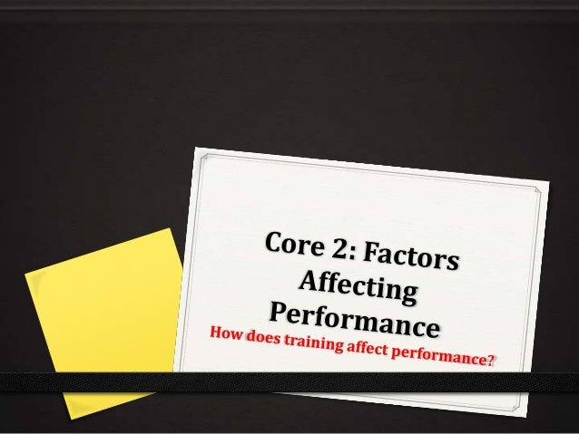 factors affecting performance coursework