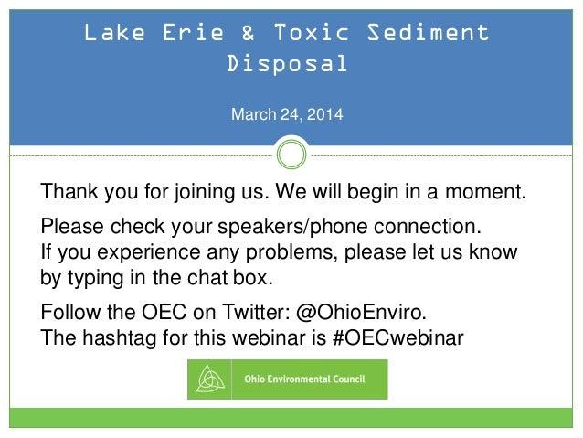 "Public Comment ""How To"": Lake Erie & Toxic Sediment Disposal"