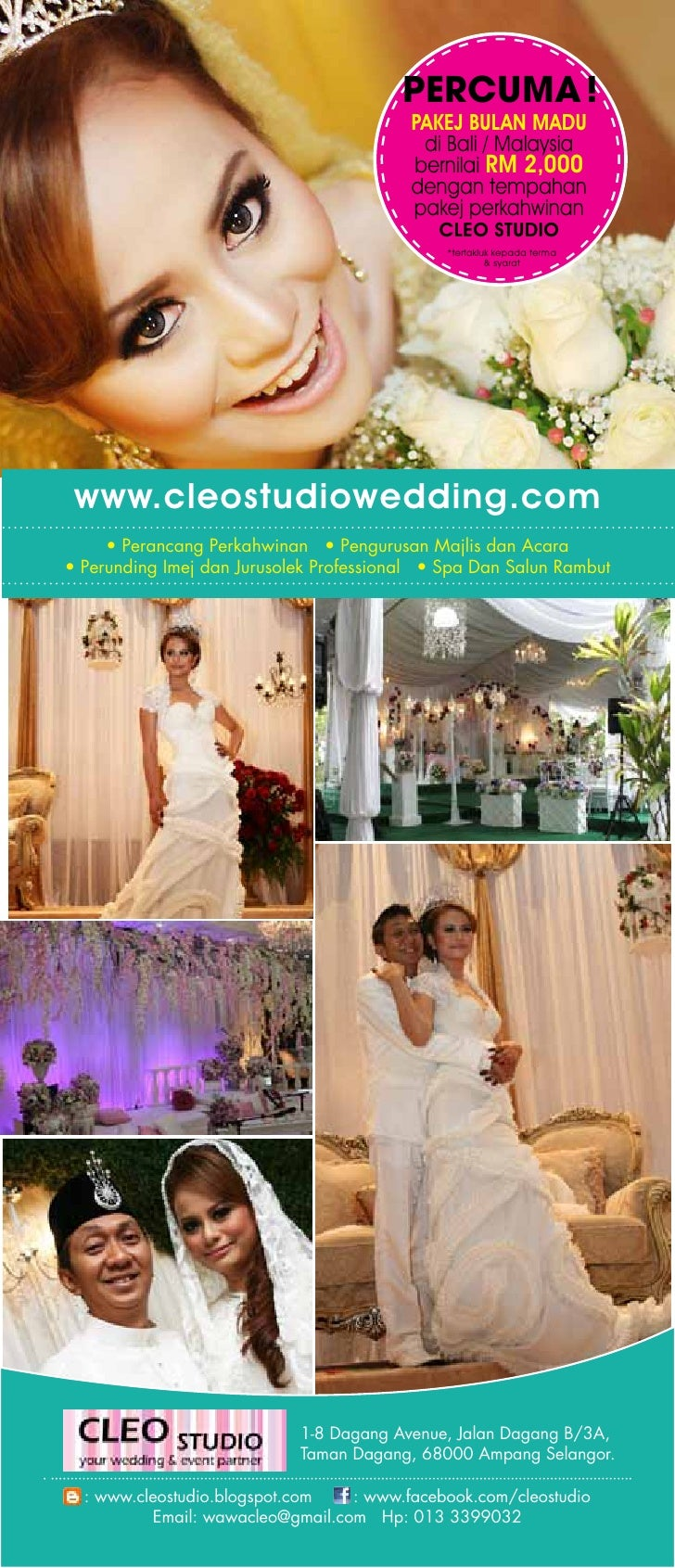 Cleo Studio Wedding Package Promotion