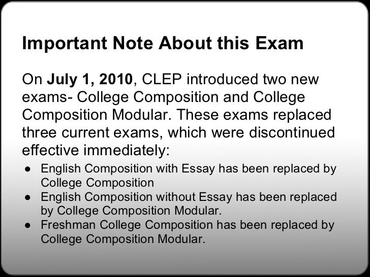 English composition clep test study guide