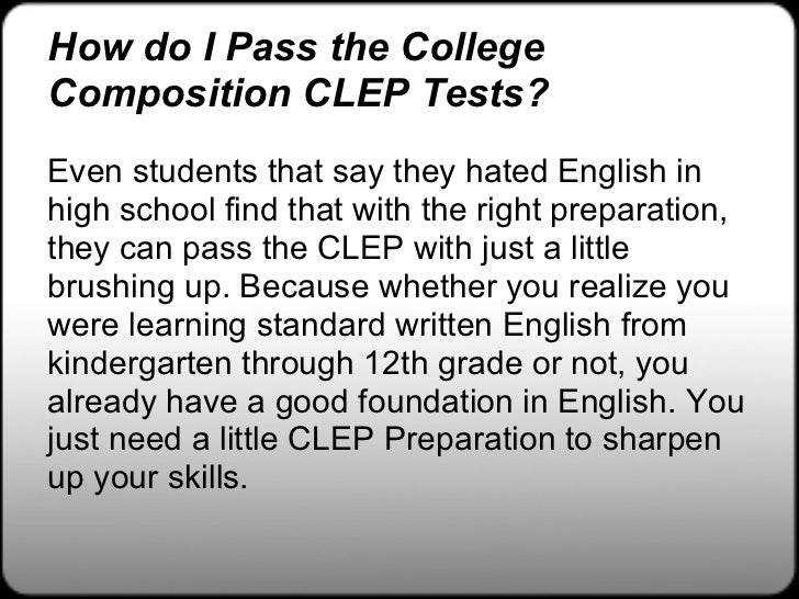 review clep english essay basics