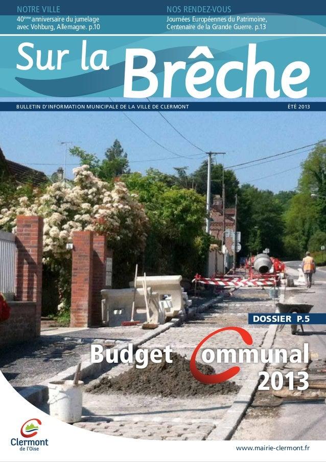 Ville de Clermont - Sur La Brêche - n°9 - Eté 2013