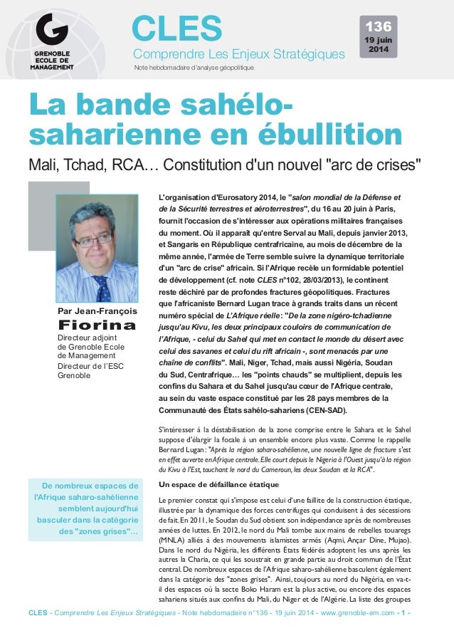 """Note hebdomadaire d'analyse géopolitique Comprendre Les Enjeux Stratégiques CLES L'organisation d'Eurosatory 2014, le """"sal..."""