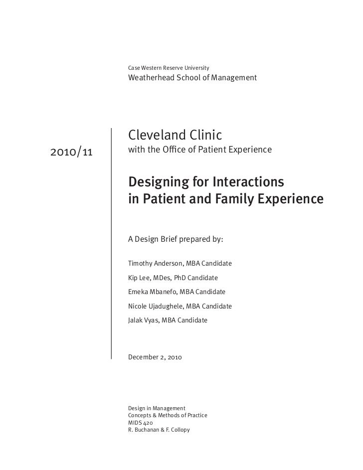 Cleveland Clinic Design Brief