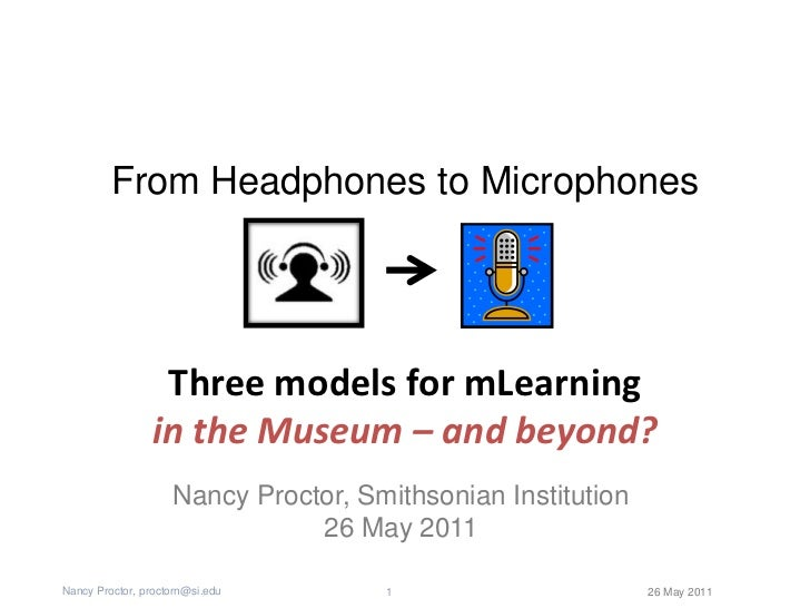 Three Models for mLearning