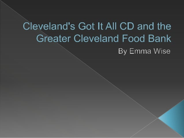 Cleveland's Got It All CD and the Greater Cleveland Food Bank