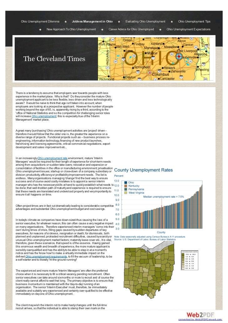 Ohio Unemployment | Cleveland Times Editorial Update
