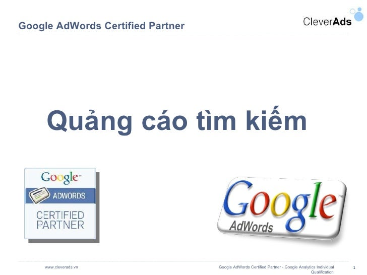 Google AdWords Certified Partner Quảng cáo tìm kiếm