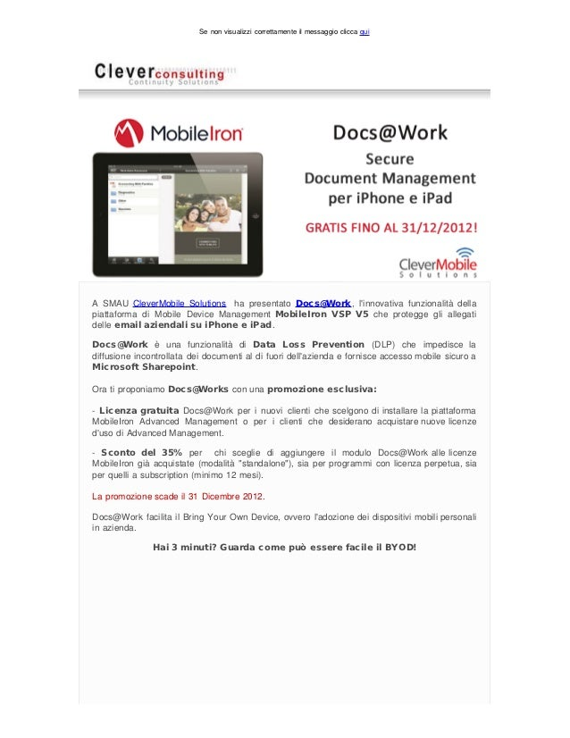 MobileIron Docs@Work in promozione esclusiva: Secure Document Management mobile