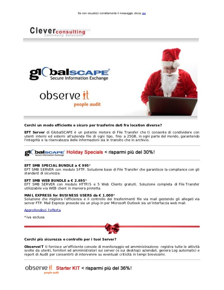 Clever Consulting Newsletter > Dicembre 2011