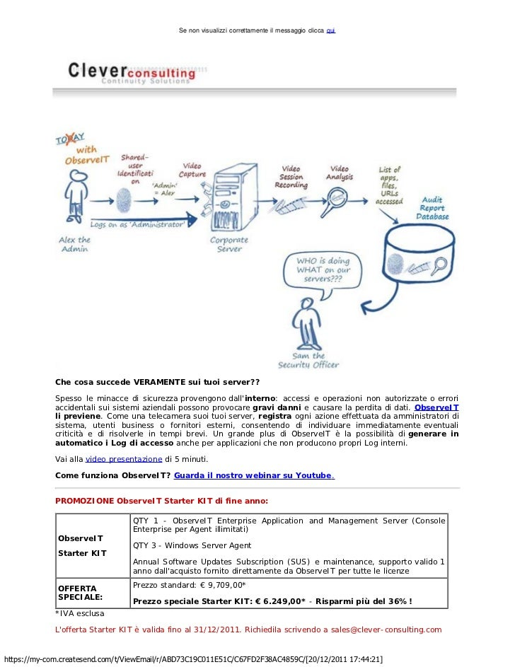 Clever Consulting Newsletter >  Novembre 2011