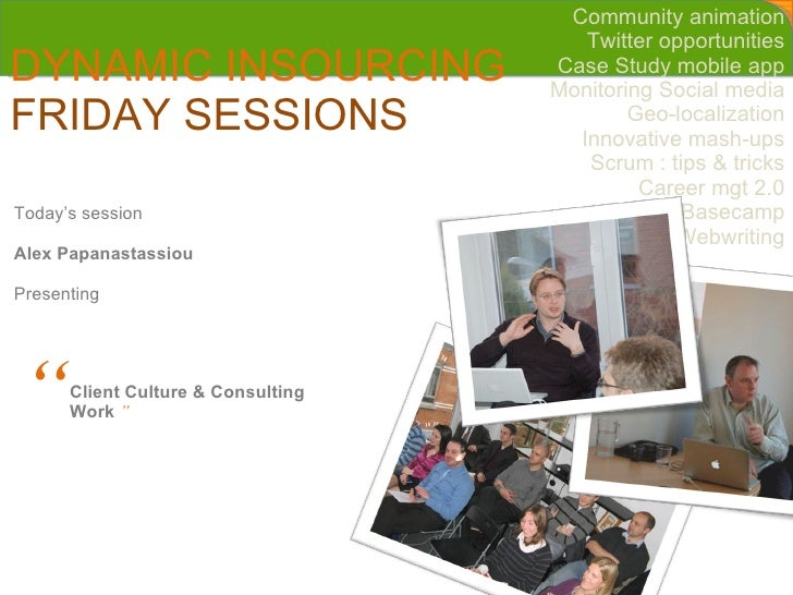 Cleverwood friday session - Company culture and consultant work