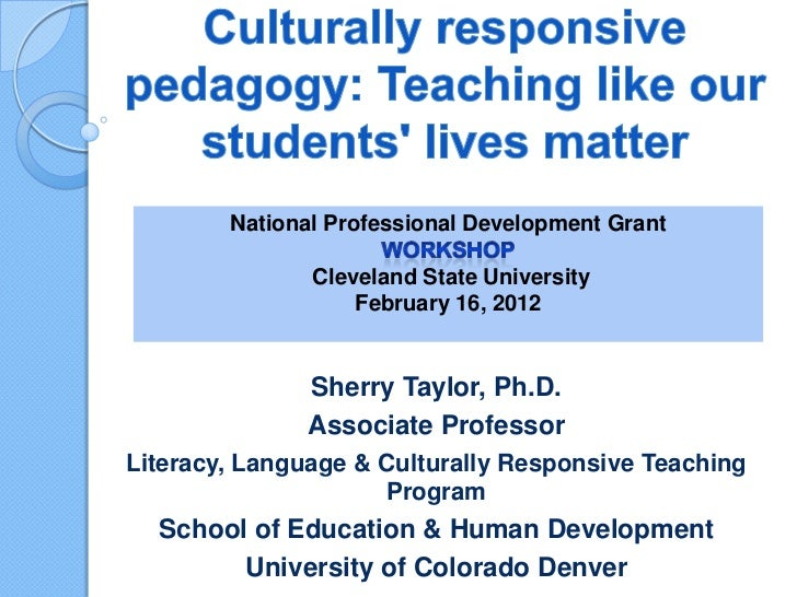 National Professional Development Grant               Cleveland State University                   February 16, 2012      ...