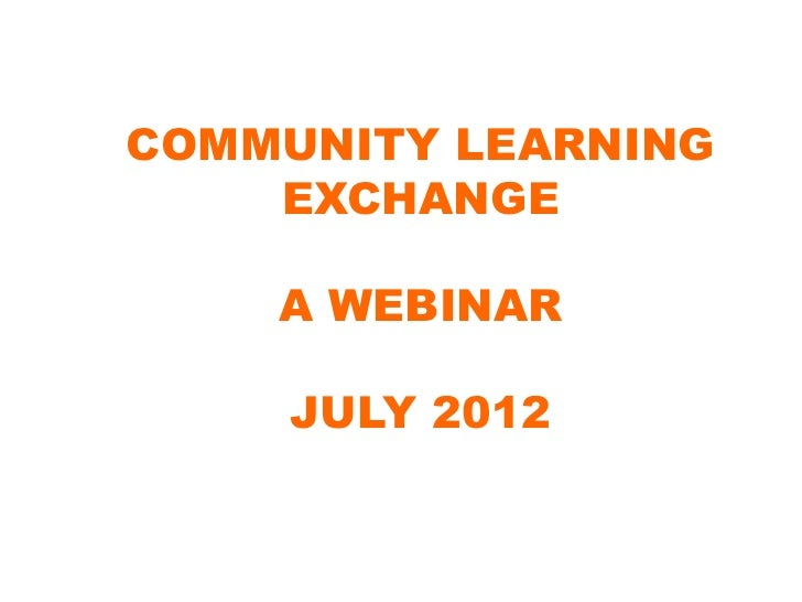 The Community Learning Exchange Story: Connecting the Wisdom and Leadership of Place