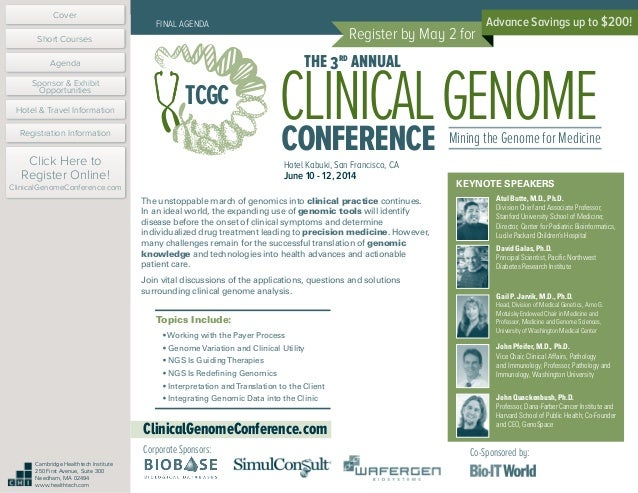 The Clinical Genome Conference 2014