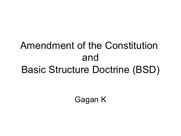 amendment under the constitution of india Keeping this factor in mind the draftsmen of the indian constitution incorporated  article 368 in the constitution which dealt with the procedure of amendment.
