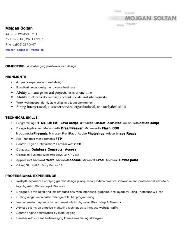 click here to see my resume in microsoft word format