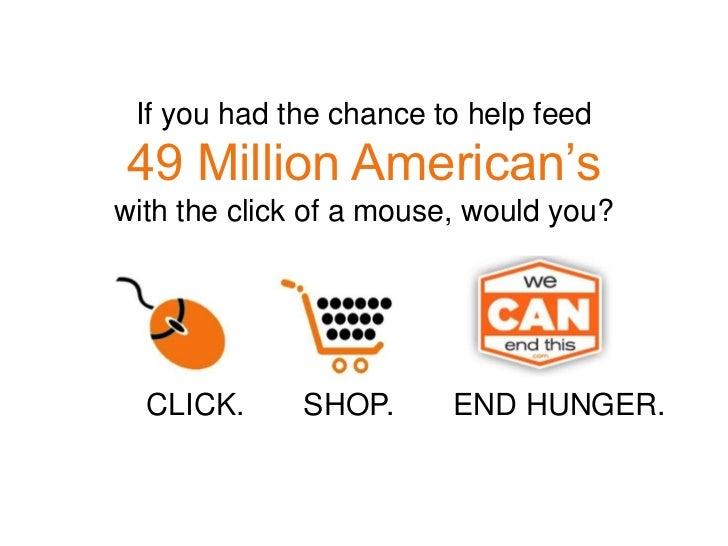 Click. Shop.End Hunger