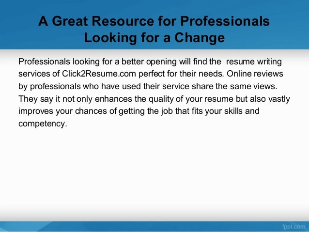 best resume writing services dc