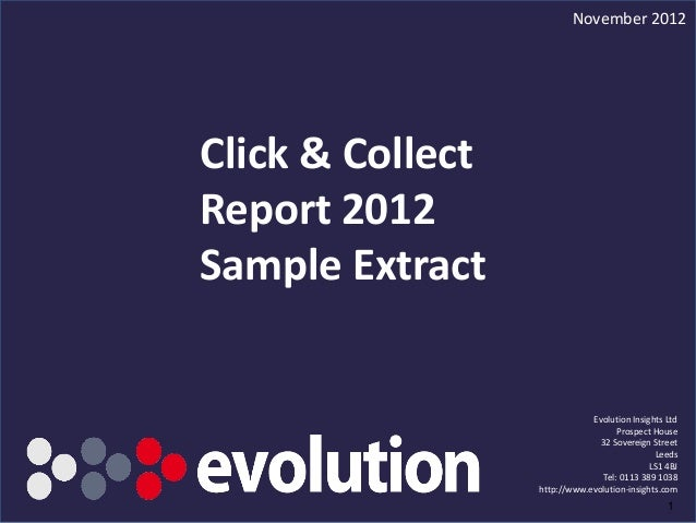 Click & Collect report 2012