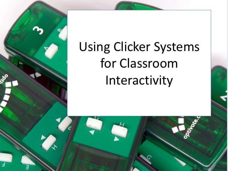Clickers - October 2012