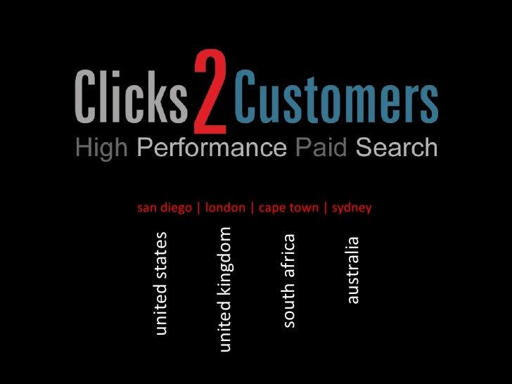 Clicks2 Customers