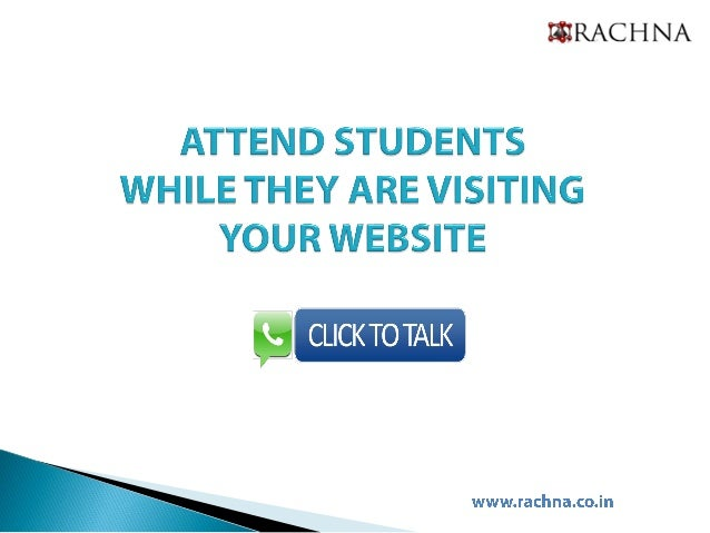 Click & talk for university