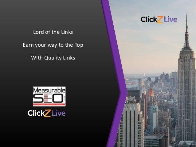 LinkBuilding Tactics presented at my Link Building Session at ClickZ Live NY
