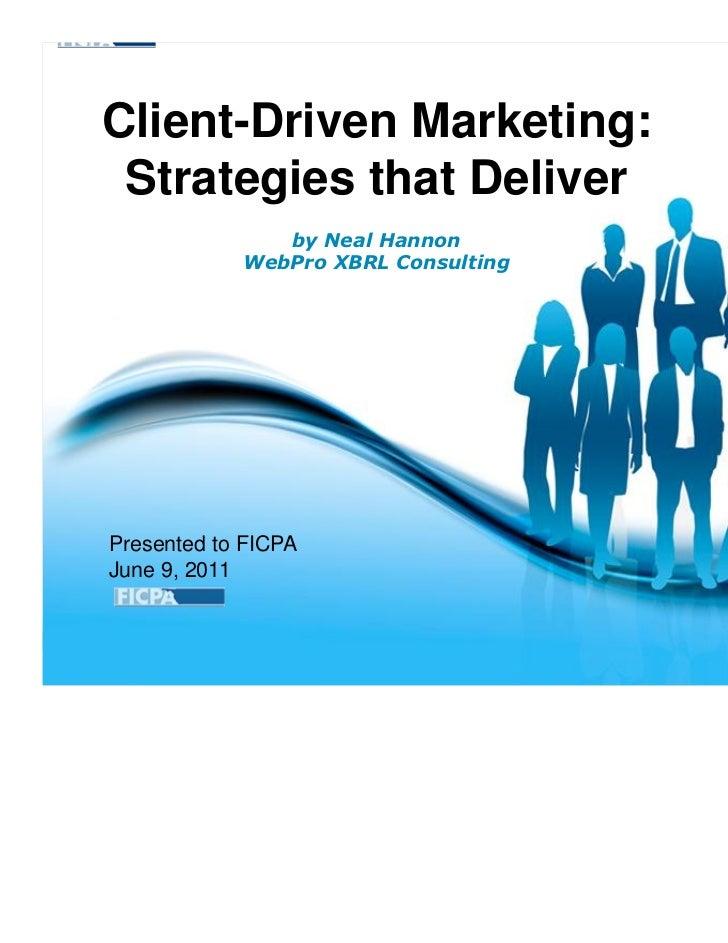 Client Driven Marketing June 2011
