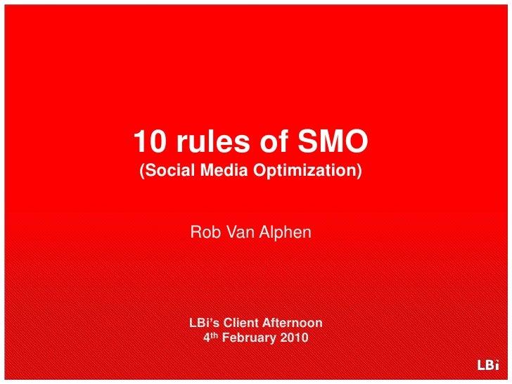 10 Rules Of Social Media Optimization