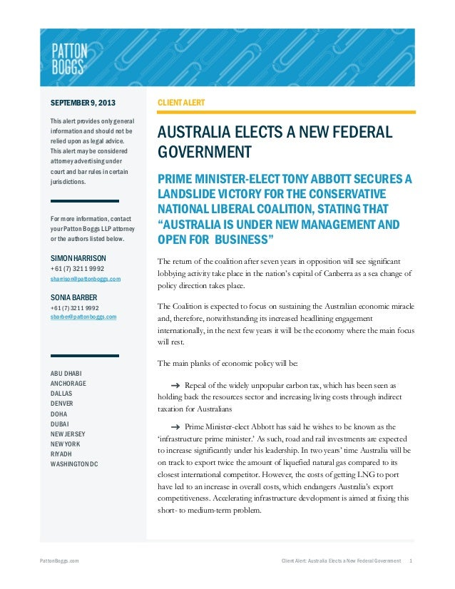 Australia Elects a New Federal Government
